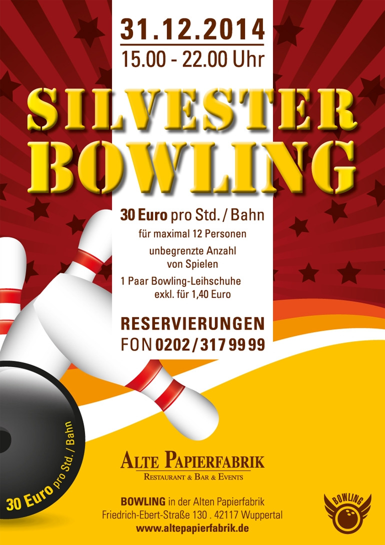 Silvester Bowling 31.12.2014
