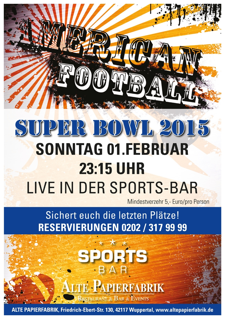 SUPER BOWL 2015 in der SPORTS-BAR